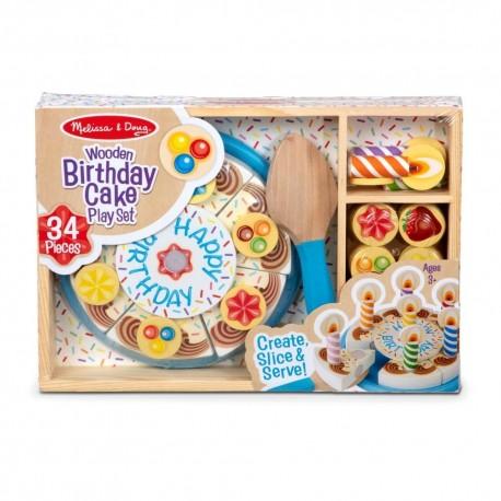 tort urodzinowy drewniany na rzep