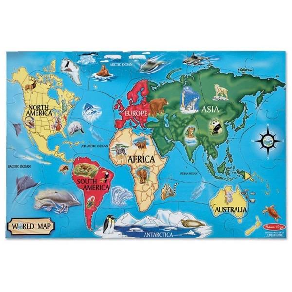 puzzle na podłogę mapa świata