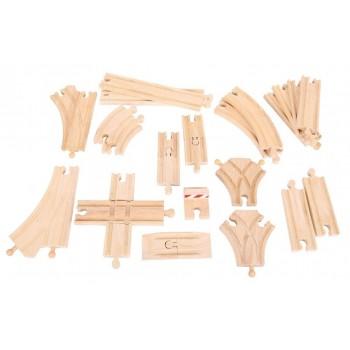 Zestaw drewnianych torów -...