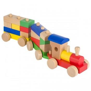 Pociąg drewniany z klockami