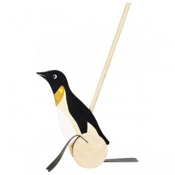 Pingwin na patyku - zabawka...