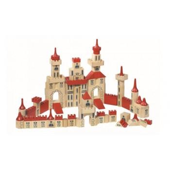 GOKI Duży drewniany zamek -...