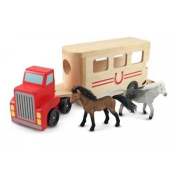 Ciężarówka z przyczepą dla...