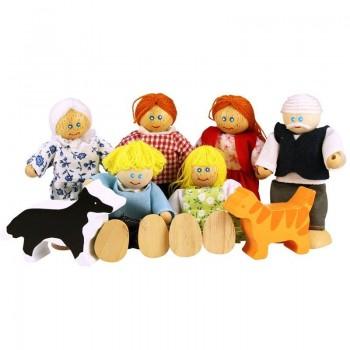 Rodzina - drewniane lalki...