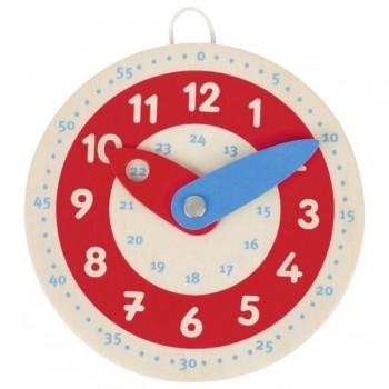 Podręczny zegar drewniany