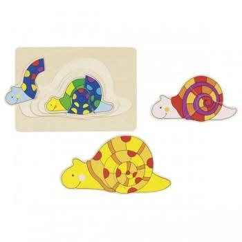 Układanka warstwowa ślimaki