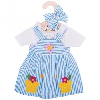 Sukienka dla lalki w paski