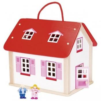 Domek dla lalek w walizce z...