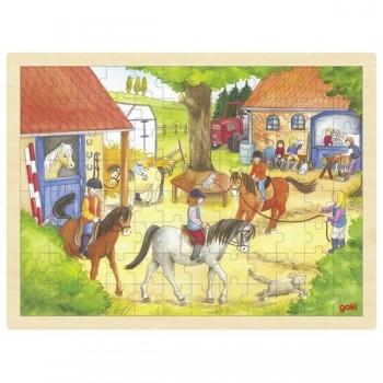 Puzzle duże Ośrodek jeździecki