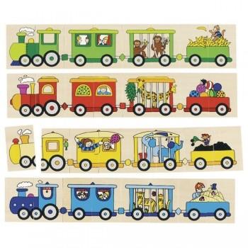 Memo i puzzle 4 pociągi -...