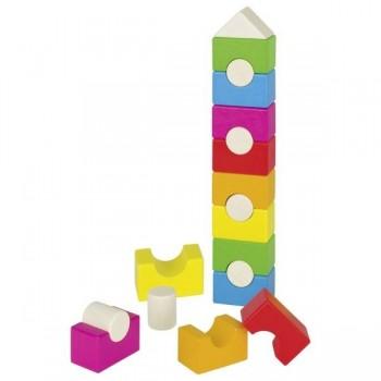 Piramida - domek, kolorowa...