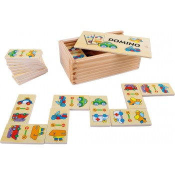 Domino drewniane obrazkowe...