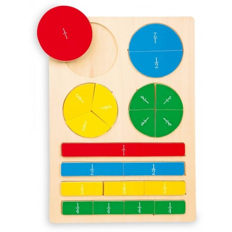 Puzzle ułamki - pomoc dydaktyczna dla dzieci