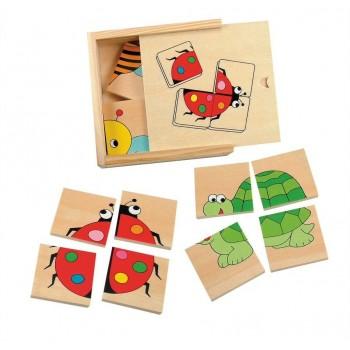 Puzzle małe zwierzaki - 4 szt.
