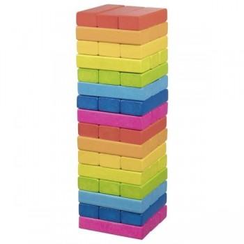 Wieża z klocków - kolorowa...