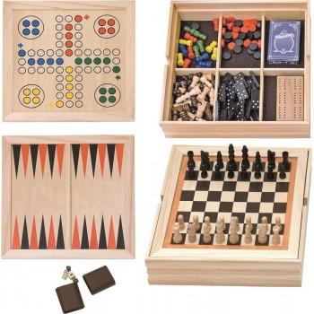 Zestaw gier w drewnianym...