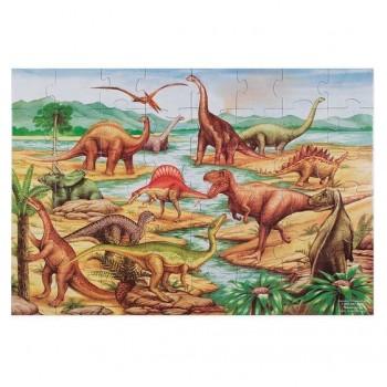 Puzzle podłogowe dinozaury...