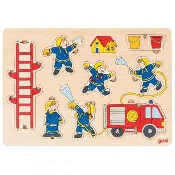 Puzzle przestrzenne Strażacy