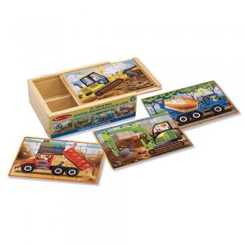 Puzzle drewniane – Pojazdy...