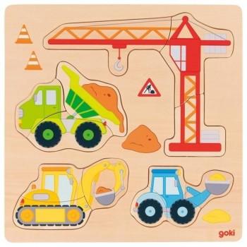 Puzzle Goki pojazdy budowy