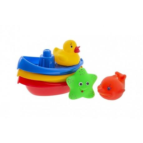 Łódeczki ze zwierzątkami do kąpieli 6szt