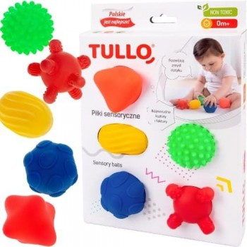 Piłki sensoryczne 5 sztuk -...