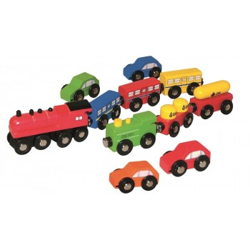 Zestaw pociągów i autek -...