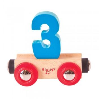 Wagonik cyferka 3
