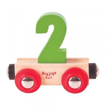 Wagonik cyferka 2
