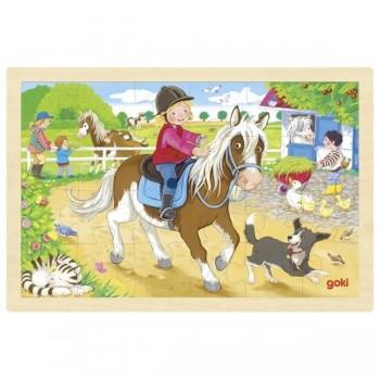 Puzzle kucyk na farmie