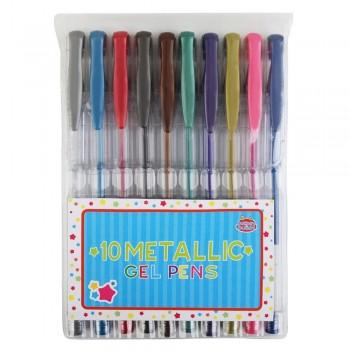 Długopisy żelowe - metaliczne