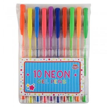 Długopisy żelowe - neonowe