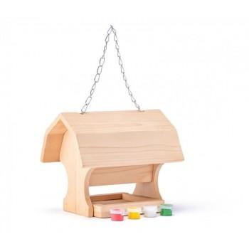 Drewniany karmnik dla...