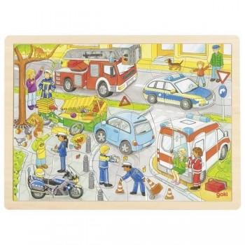 Puzzle - kolizja w mieście