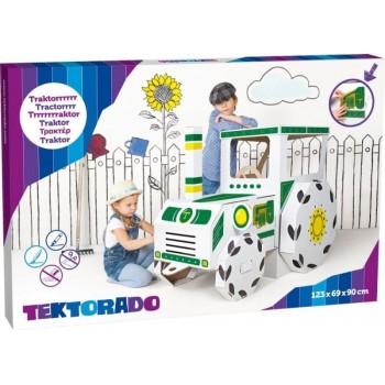 Zabawka z kartonu - Traktor...