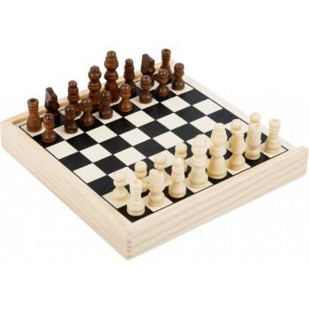 Szachy drewniane gra podróżna