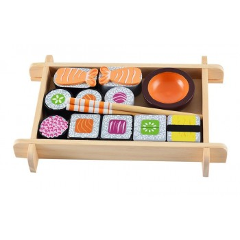 Sushi drewniane jedzenie