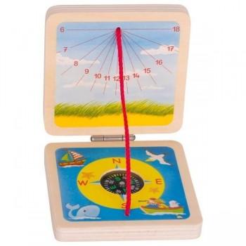 Zegar słoneczny i kompas
