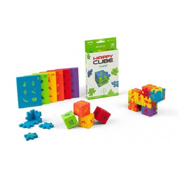 HAPPY CUBE JUNIOR KOSTKI PUZZLE PIANKOWE LITTLE GENIUS